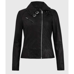 AllSaints Belvedere Leather Jacket US 6